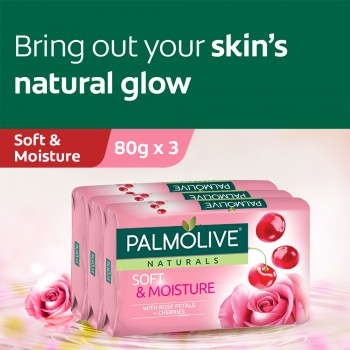 Palmolive Soft & Moisture Bar Soap Valuepack 80g x 3