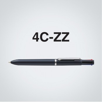 Zebra 4C-ZZ 4 Colour Ball-Point Pen Solid White